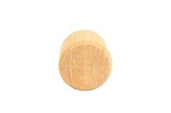 forma de madera del cilindro del bloque imagenes de archivo