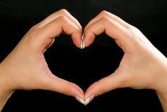 Forma de meu coração Imagens de Stock