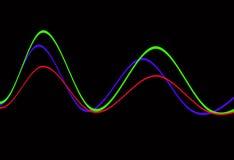 Forma de onda 10 Imagen de archivo libre de regalías