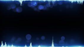 A forma de onda audio azul e o espaço livre abstraem o fundo da tecnologia Imagens de Stock Royalty Free