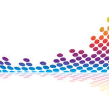 Forma de onda audio gráfica Imagem de Stock Royalty Free