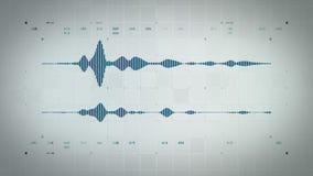 Forma de onda audio Lite azul estéreo stock de ilustración