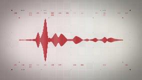 Forma de onda audio mono Lite rojo stock de ilustración