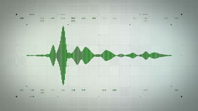 Forma de onda audio mono Lite verde ilustración del vector