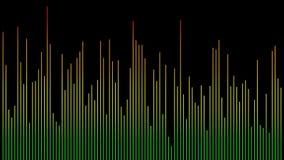 Forma de onda del equalizador del color con las líneas finas almacen de video