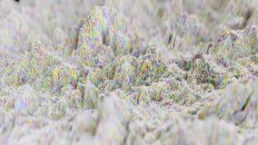 forma de onda 4K topográfica abstrata video estoque