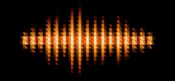 Forma de onda sadia brilhante do áudio ou da música com filtro triangular ilustração stock