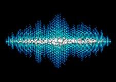 Forma de onda sadia feita de bolas caóticas Imagens de Stock