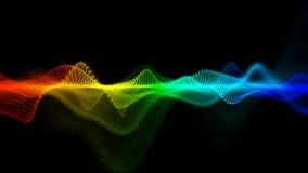 Forma de ondas abstrata colorida dos pontos Imagens de Stock