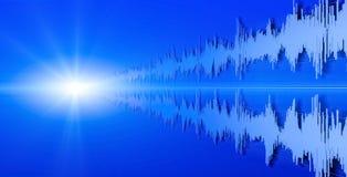 Forma de ondas acústicas imagen de archivo libre de regalías