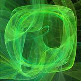 Forma de pantalla abstracta con las líneas curvadas Verde en el ejemplo negro del fondo stock de ilustración