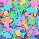 A forma de papel caçoa animais & plantas Foto de Stock Royalty Free