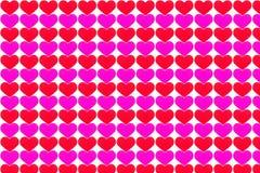 Forma de papel vermelha e cor-de-rosa do coração imagem de stock royalty free