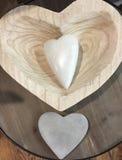 Forma de três corações Fotos de Stock