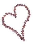 Forma de um coração feito fora dos feijões de café Fotos de Stock Royalty Free