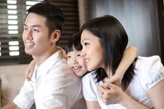 Forma de vida asiática de la familia Imágenes de archivo libres de regalías