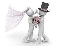 Forma de vida - danza de los recienes casados Fotografía de archivo libre de regalías