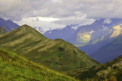 Forma de vida de Alaska de los backpackers Imagen de archivo libre de regalías