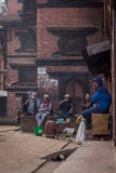 Forma de vida de la gente de Bhaktapur Imagen de archivo libre de regalías