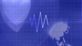 Forma de vida del pulso del corazón médica almacen de video