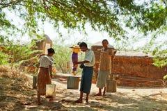Forma de vida en Bagan, Myanmar Imagen de archivo