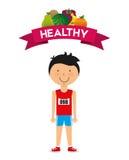 Forma de vida sana stock de ilustración