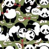 Forma de vida sana con la panda ilustración del vector