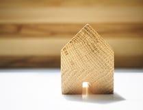 Forma de vida viva del fondo modelo casero de Wooden Foto de archivo libre de regalías