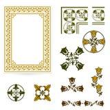 Forma decorativa del certificado o de los diplomas Imagen de archivo