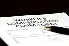 Forma dei comp. della compensazione del lavoratore per i reclami Immagini Stock Libere da Diritti