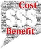 Forma dei costi e dei redditi della nuvola di parola Immagine Stock Libera da Diritti