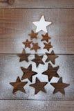 Forma del árbol de navidad de las estrellas Fotografía de archivo libre de regalías