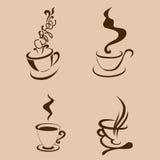 Forma del abstarct de la taza de Coffe Ilustración Stock de ilustración