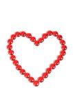 Forma del amor de piedras rojas hermosas Imagen de archivo