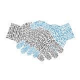 Forma del apretón de manos formada por símbolo del dinero Fotos de archivo libres de regalías