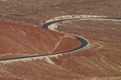 Forma del camino S de dos curvas imágenes de archivo libres de regalías