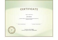 Forma del certificado Foto de archivo libre de regalías