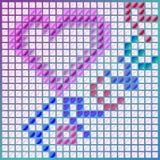 Forma del corazón con el texto del forever stock de ilustración