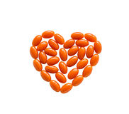 Forma del corazón de la coenzima Q10 Imagen de archivo libre de regalías