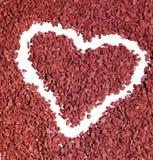 Forma del corazón de la grava Fotografía de archivo libre de regalías