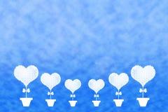 Forma del corazón de la nube imagen de archivo libre de regalías