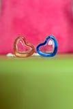 Forma del corazón de la tarjeta del día de San Valentín fotografía de archivo libre de regalías