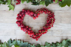 Forma del corazón de las bayas Fotografía de archivo libre de regalías