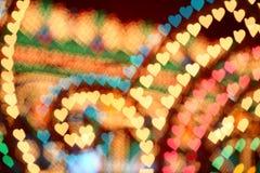 Forma del corazón de Luminarie fotografía de archivo