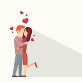 Forma del corazón del abrazo de los amantes de Valentine Day Holiday Silhouette Couple Imagenes de archivo