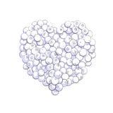 Forma del corazón del arándano Foto de archivo libre de regalías