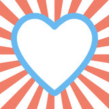 Forma del corazón del día de San Valentín en fondo del resplandor solar Foto de archivo