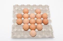 Forma del corazón del huevo en bandeja Foto de archivo libre de regalías