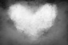 Forma del corazón del humo Fotos de archivo libres de regalías