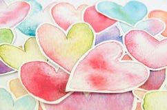 Forma del corazón en el fondo blanco Stock de ilustración